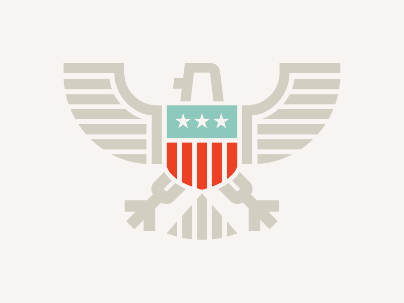 Eagle logo american america monoweight crest eagle