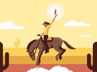 Cowboy dribbble big 02