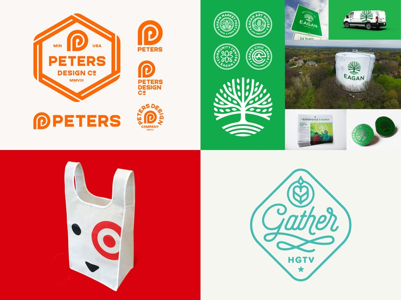 Here are PDCo's #Top4Shots on Dribbble this year tree bag target branding identity logo