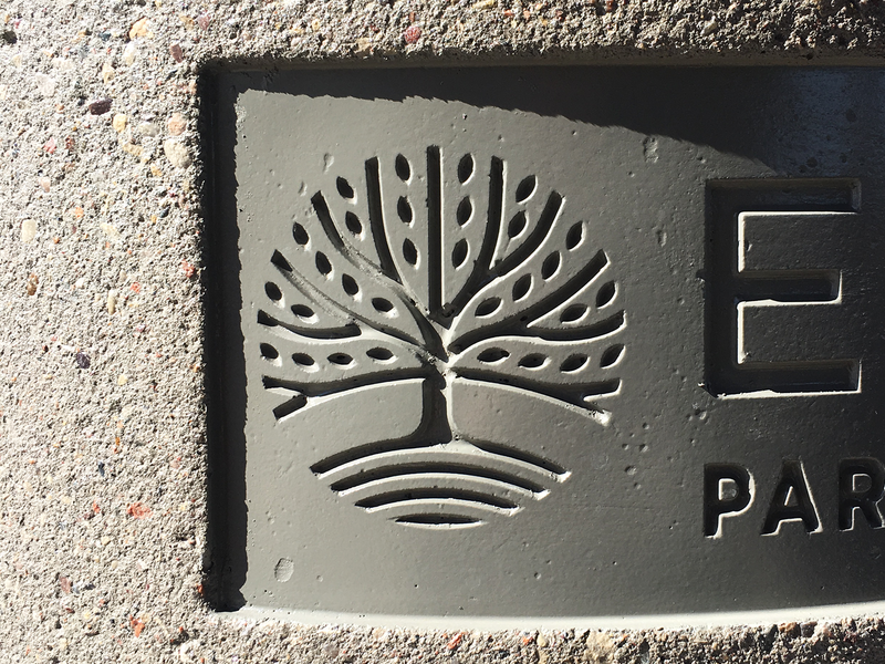 City of Eagan Logo X Concrete minnesota eagan oak tree stamped concrete branding city logo