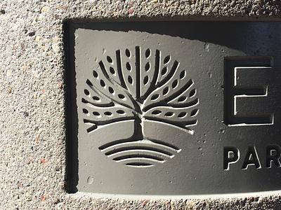 City of Eagan Logo X Concrete minnesota eagan oak tree stamped concrete branding city logo