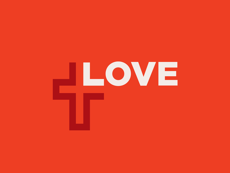 God Is Love logos branding brand icon logo cross love jesus god christian church