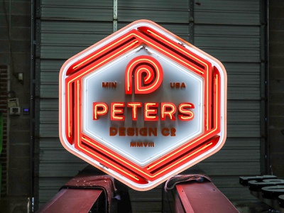 PDCo Neon Sign peters crest sign neon brand