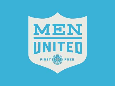 Men United god men church jesus faith crest american badge brand system logo system logos poster logo