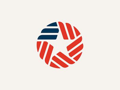 U.S. Made circle star stripes flag usa