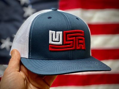 U.S. Made: USA Flag Trucker Cap cap hat flag usa branding american logo