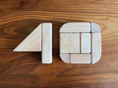 40 Years logos logo typography 40