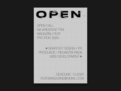 FEAT 2 Open Call Poster typographic typograpy poster typographic poster typography type poster type art opentype print poster design poster artwork poster art poster open call lettering helvetica grid design grid graphic design editorial design editorial