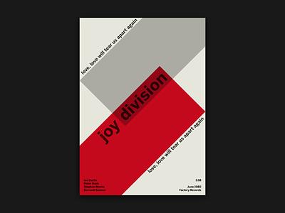 Joy Division - Love Will Tear Us Apart Poster modern typography geometric design geometry grid layout layout minimal print poster design poster artwork poster art graphic design grid joy division music poster music art music poster modernism