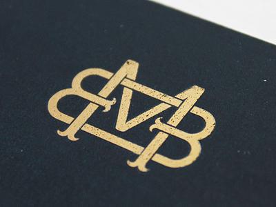 Mario Berta Battiloro Business Card blue goldfoil gold typogaphy type monogram logo monogram logotype logo design logodesign logo lettering logo lettering graphic design graphic branding design brand design brand identity brand