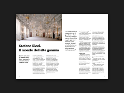Layout of the Interview with Stefano Ricci swiss design swiss style minimal interview magazine design magazine grid design grid layout design layout editorial layout editorial design editorial typogaphy design type graphic design graphic