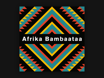 Electronic Music Limited Edition: Afrika Bambaataa ethnic cover artwork cover design cover vinyl record vinyl cover vinyl limited edition electronic music electronic afrika bambaataa music album cover abstract afro minimal typogaphy editorial design type graphic design