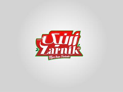 Zarnik Logo/Label label design iran print persian drawing design vector illustration typography logotype logo design packaging package branding food industry brand label