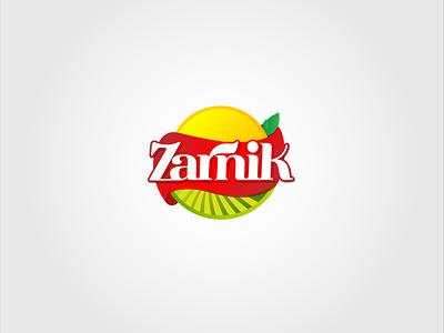 Zarnik Logo Design sun farm visualbranding food industry persian farsi brand iran web print branding drawing design vector illustration logotype logodesign