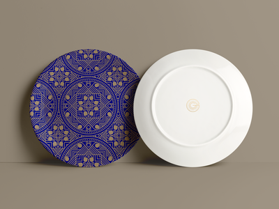 Plate Pattern mockup 3d model plate accessory design accessory pattern draw brand logo branding persian drawing design vector illustration