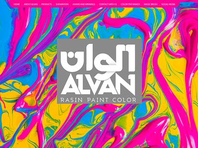 Alvan Webpage وبسایت ایران interactive ux design ui design website webdesign ui farsi iran web branding persian drawing design vector illustration