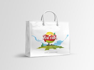 Zarnik vinyl shopping bag bag design print logo drawing vector illustration brand iran branding persian advertising shopping bag