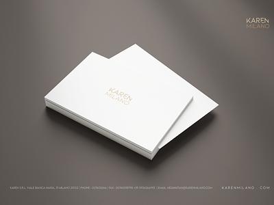 Karen Milano Business Card logo designs brand print branding typography vector illustration design drawing logo business card design business card