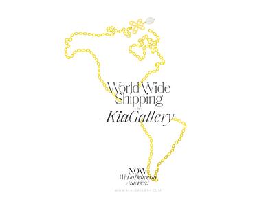Kia Gallery - Jewelry World Wide Shipping iran branding persian design illustration illus کیا گالری کیاگالری advertising poster shipping gold jewelry kia-gallery kiagallery