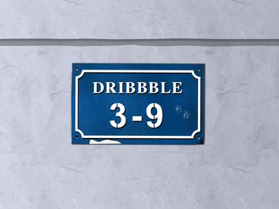 Old Doorplate of Dribbble