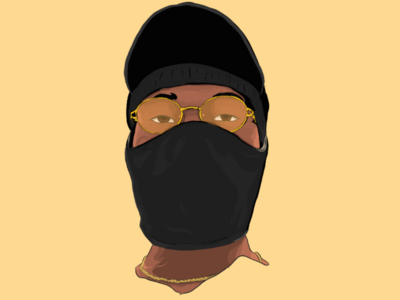 Incognito mobile art drawing