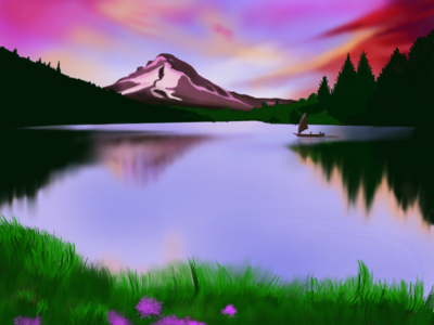 Landscape digital art...