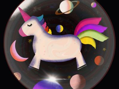 Unicorn Galaxy Ball
