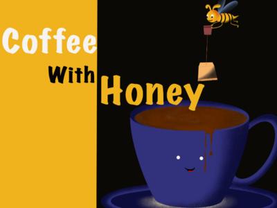 Coffee with honeybee...fantasy digital art...