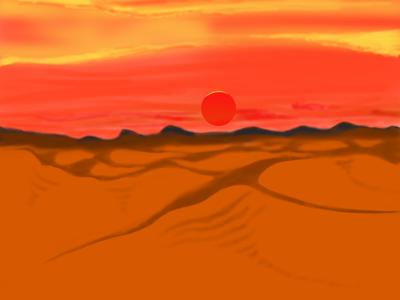 Desert sunset...procreate illustration