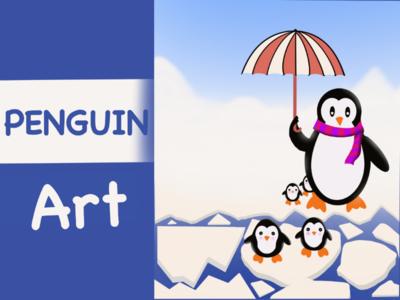 Digital art penguins...