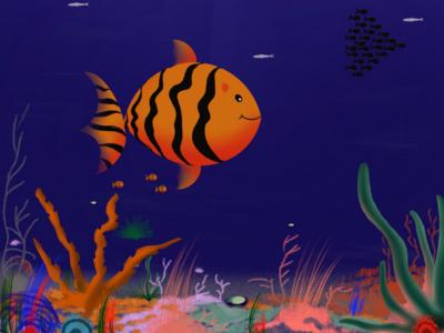 Under the sea Procreate illustration