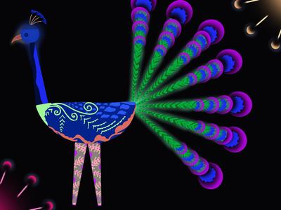 Peacock Digital Bird