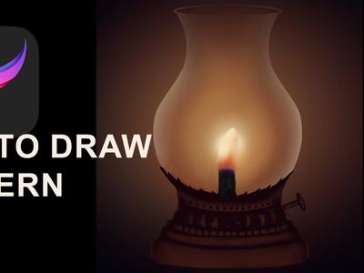 Drawing Lantern old generation light source...