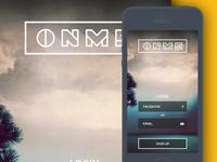 Login Screen - Onme