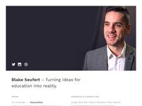 New Profile Website