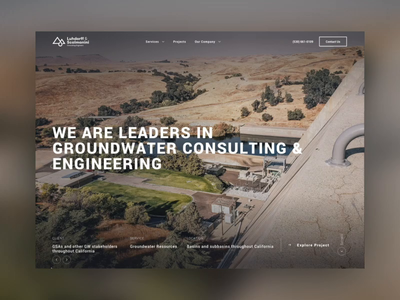 Water Engineering Website animated desktop interactive homepage dribbble website design web dailyui ui design ui parallax scrolling parallax effect parallax website parallax animations transition motion webdesign website animation