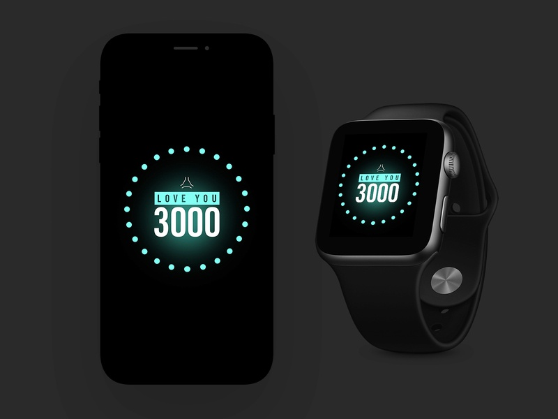 Love You 3000 | FREE Download | iPhone & Apple Watch Background glow phone watch background apple watch iphone x iphone avengersendgame ironman iron man avengers dark black photoshop modern ux ui freebies freebie free