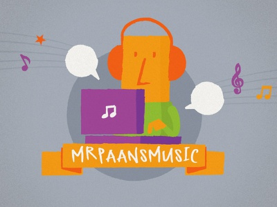 MrPaansMusic illustration logo mrpaans music
