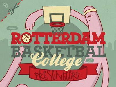 Rotterdam Basketball College illustration flyer rotterdam basketball college