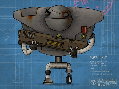 RBT v.02 illustration robot blueprint