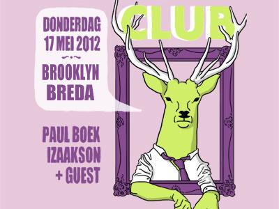 Culture Club illustration poster deer