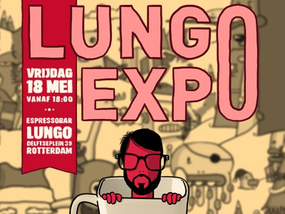 Lungo Expo illustration poster lungo coffee