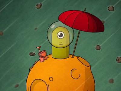 Lonely Planet illustration monster planet