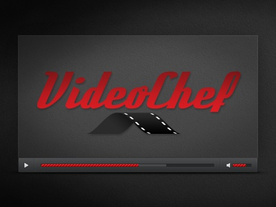 VideoChef identity logo video videoplayer videochef moustache