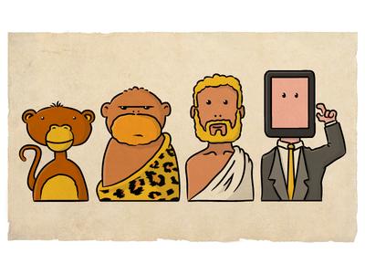 Homo Swipiens illustration evolution homo sapiens