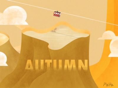Autumn illustration autumn