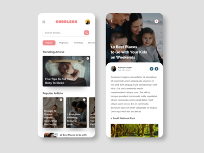 News feed app for parents