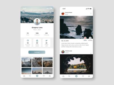 Social App UI for travelers