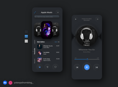 Playlist - Apple Music Simple Player neumorphic design neumorphism music app figmadesign userinterfacedesign uxui uiux ux branding uiuxdesign photoshop design mobile app ui simplify