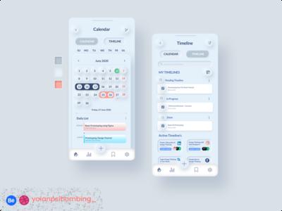 Meeting Schedule Mobile App font awesome colorful typography calendar app neumorphic neumorphic design figmadesign figma photoshop uiux design mobile app ui uiuxdesign simplify